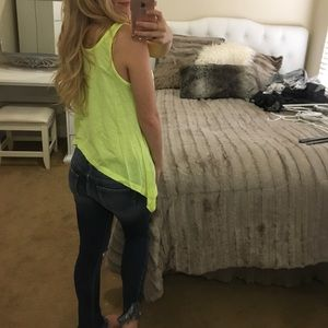 Tops - Neon yellow Maui tank